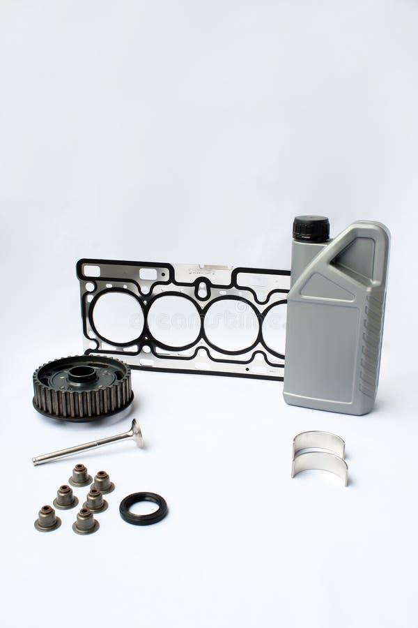 发动机零件备件 库存照片