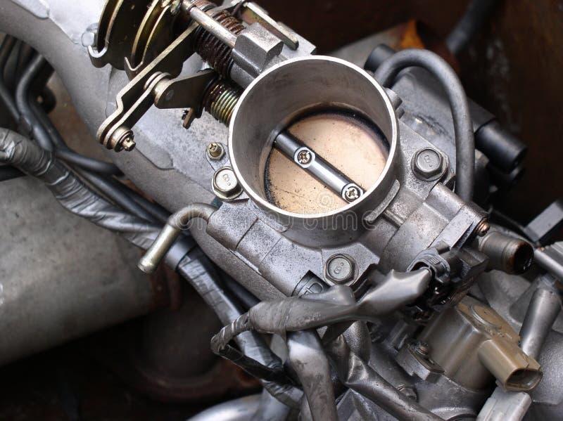 发动机零件节流孔 免版税库存图片