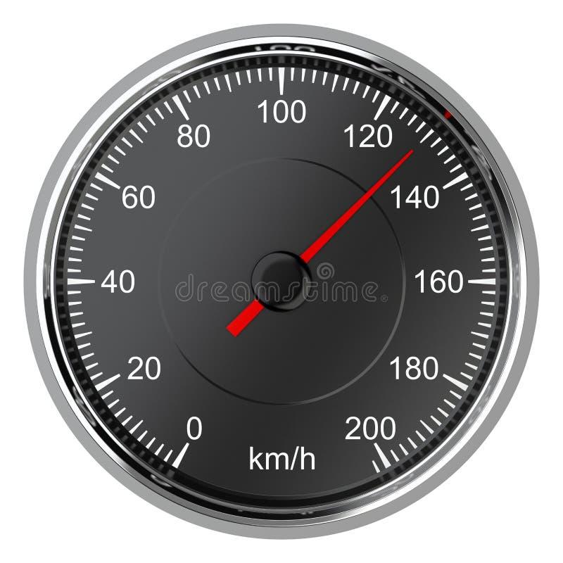 发动机革命显示速度车速表通信工具 皇族释放例证