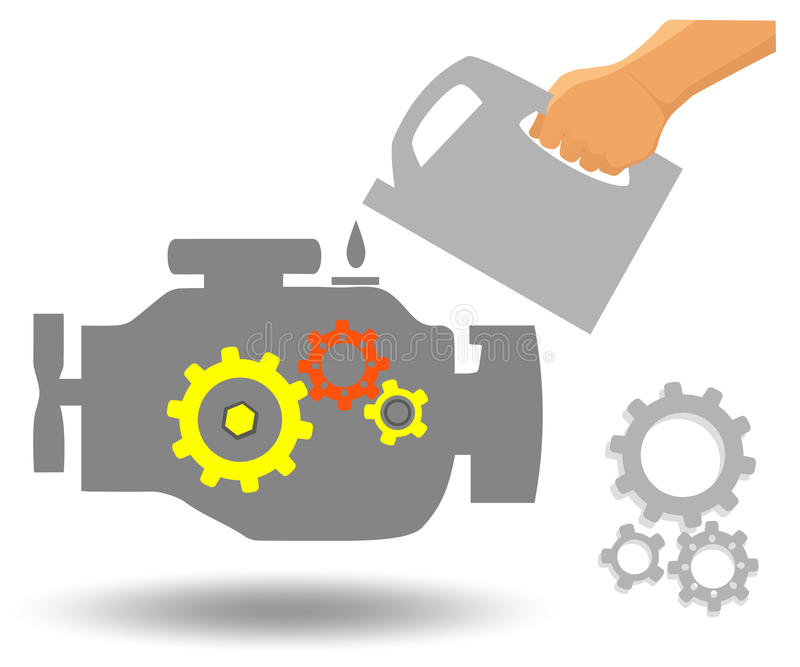 发动机维护 库存例证