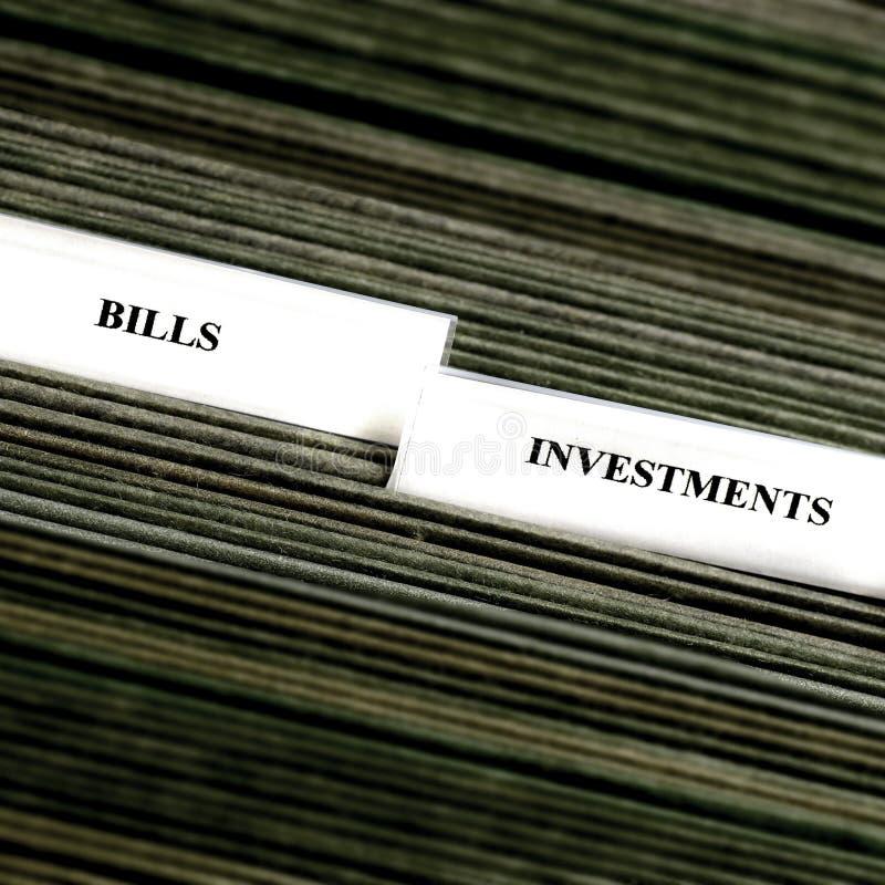 发单归档组织的选项 免版税库存照片