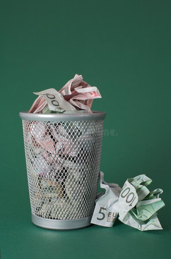 发单浪费的欧洲货币 免版税图库摄影