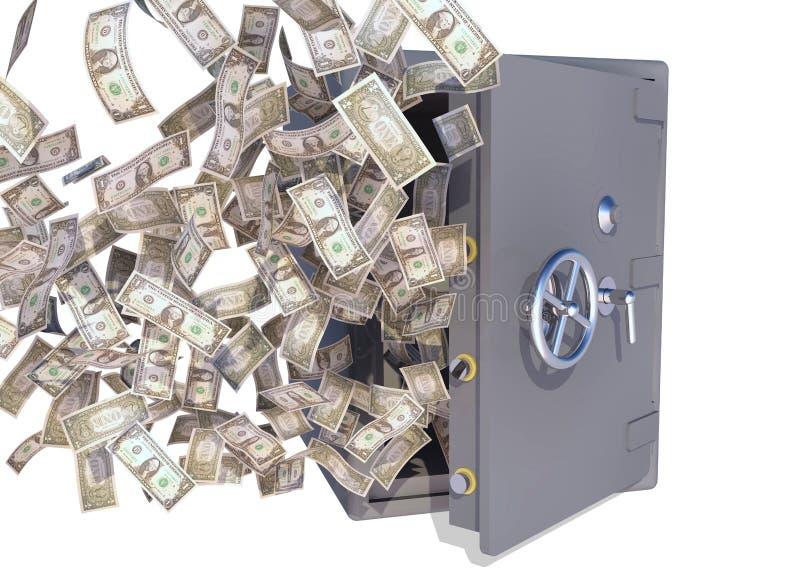 发单美元飞行跳跃 免版税库存图片