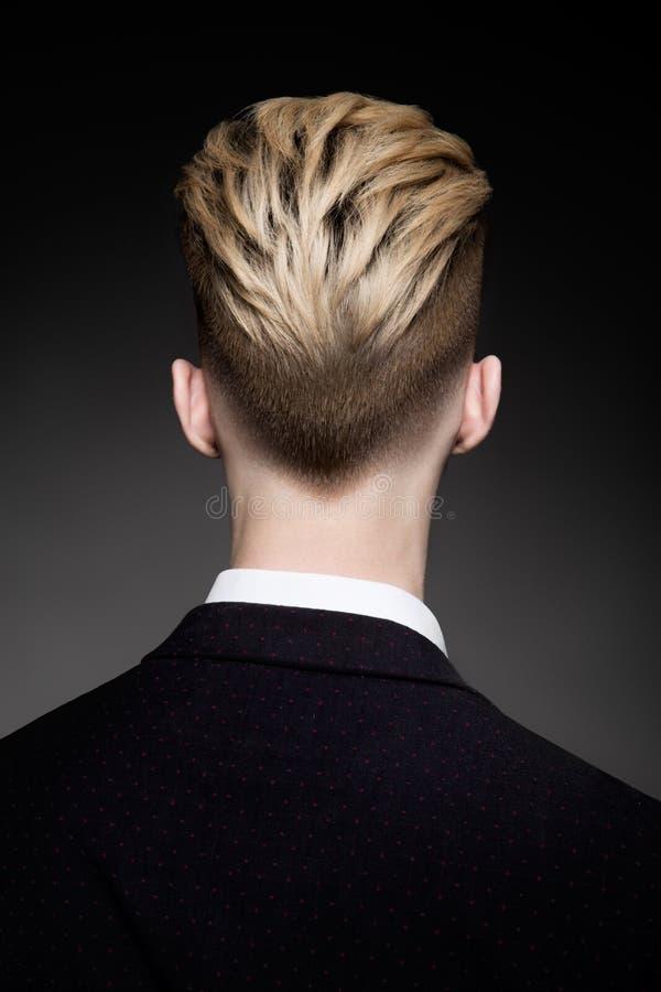 发型后面看法人的 免版税库存图片