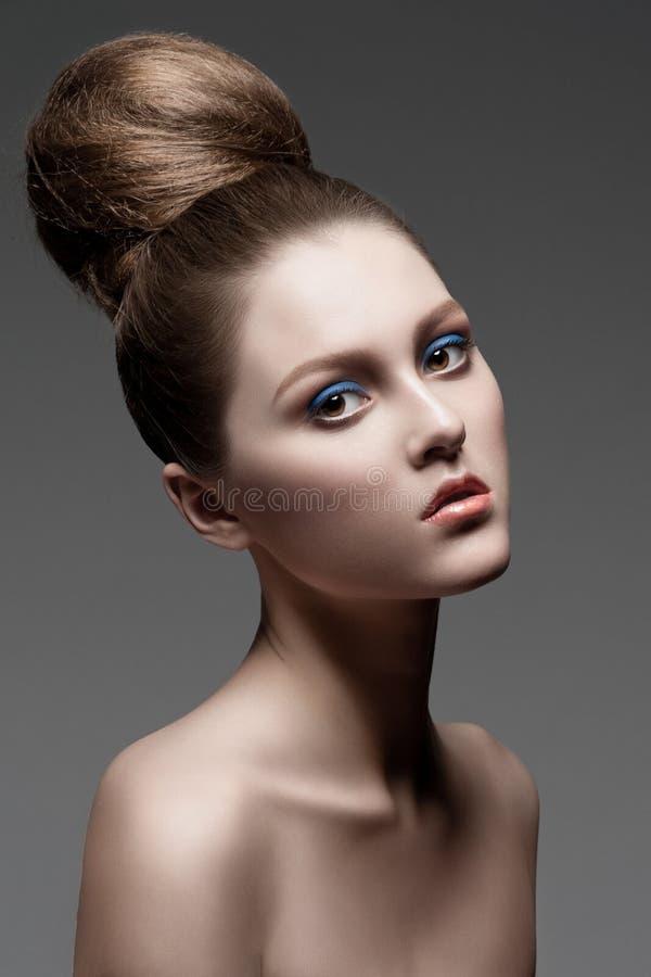 发型构成妇女 图库摄影