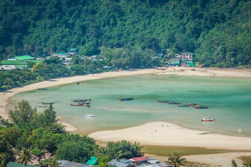 发埃发埃海岛在安达曼海,普吉岛, Krabi,泰国 库存照片