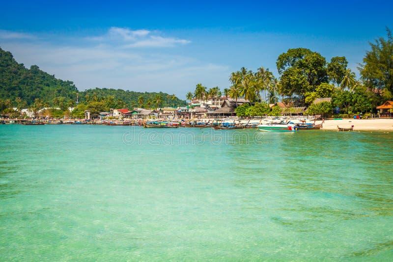 发埃发埃海岛在安达曼海,普吉岛, Krabi,泰国 图库摄影