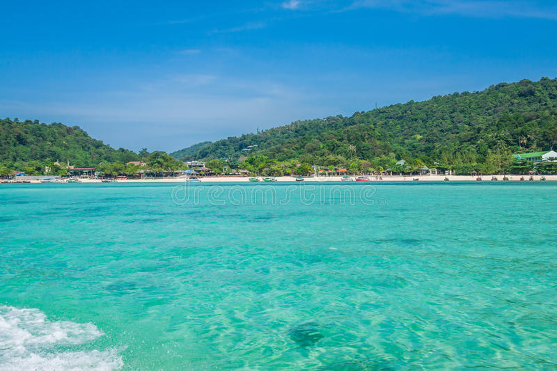 发埃发埃海岛在安达曼海,普吉岛, Krabi,泰国 免版税库存照片