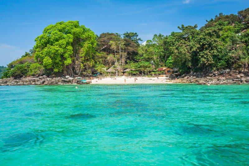 发埃发埃海岛在安达曼海,普吉岛, Krabi,泰国 库存图片