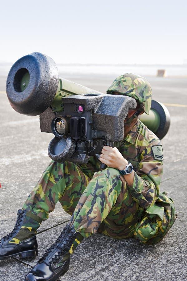 发射器导弹运行战士 库存照片