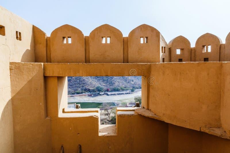 发射孔堡垒琥珀 斋浦尔 印度 免版税库存图片