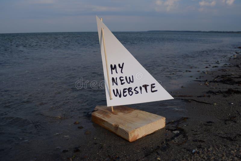 发射我新的网站 免版税库存图片