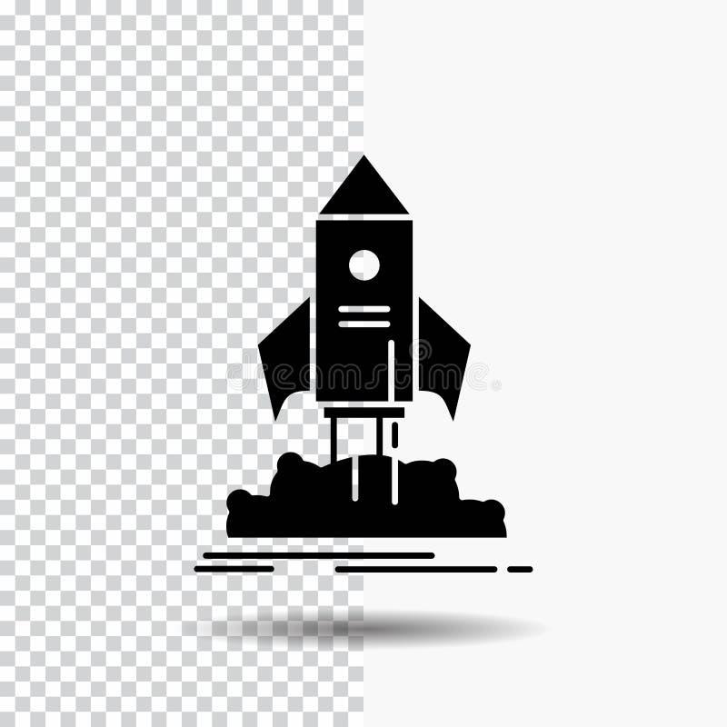 发射,起动,船,梭,使命在透明背景的纵的沟纹象 ?? 向量例证