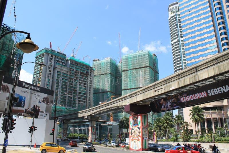 发展中国家城市吉隆坡马来西亚 库存照片