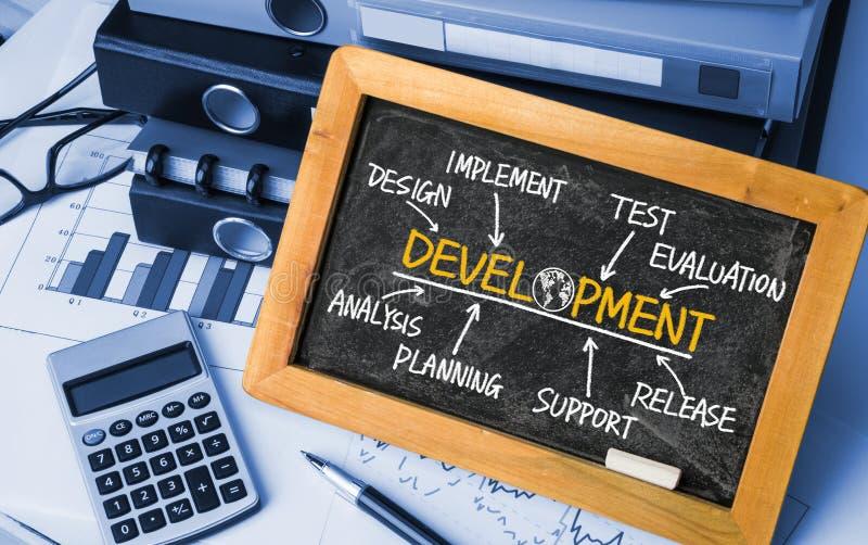 发展流程图 图库摄影