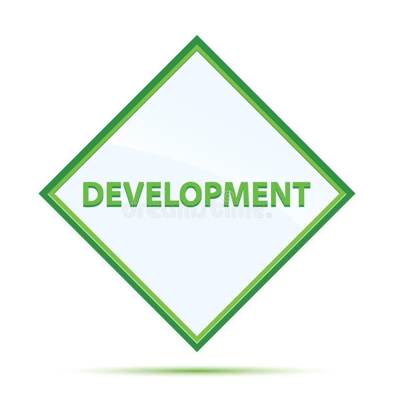 发展现代摘要绿色金刚石按钮 库存例证