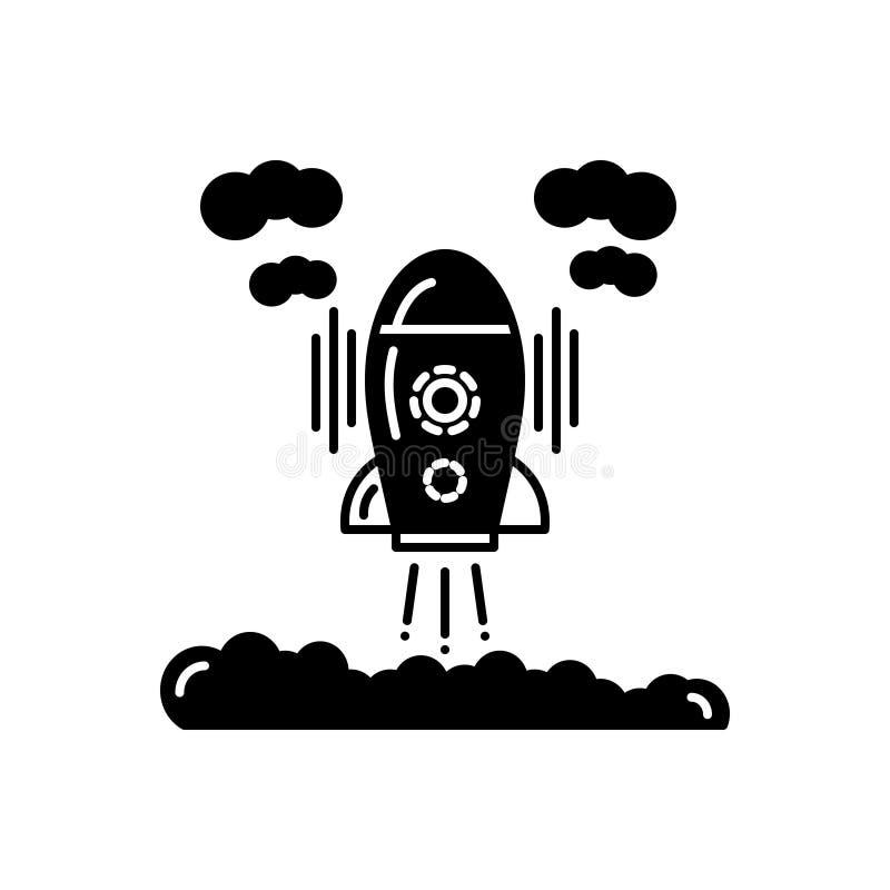 发展的黑坚实象,开始了和太空飞船 向量例证