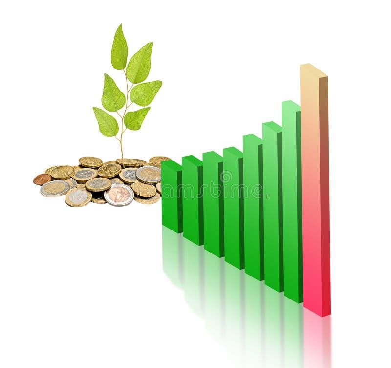 发展经济绿色 库存照片