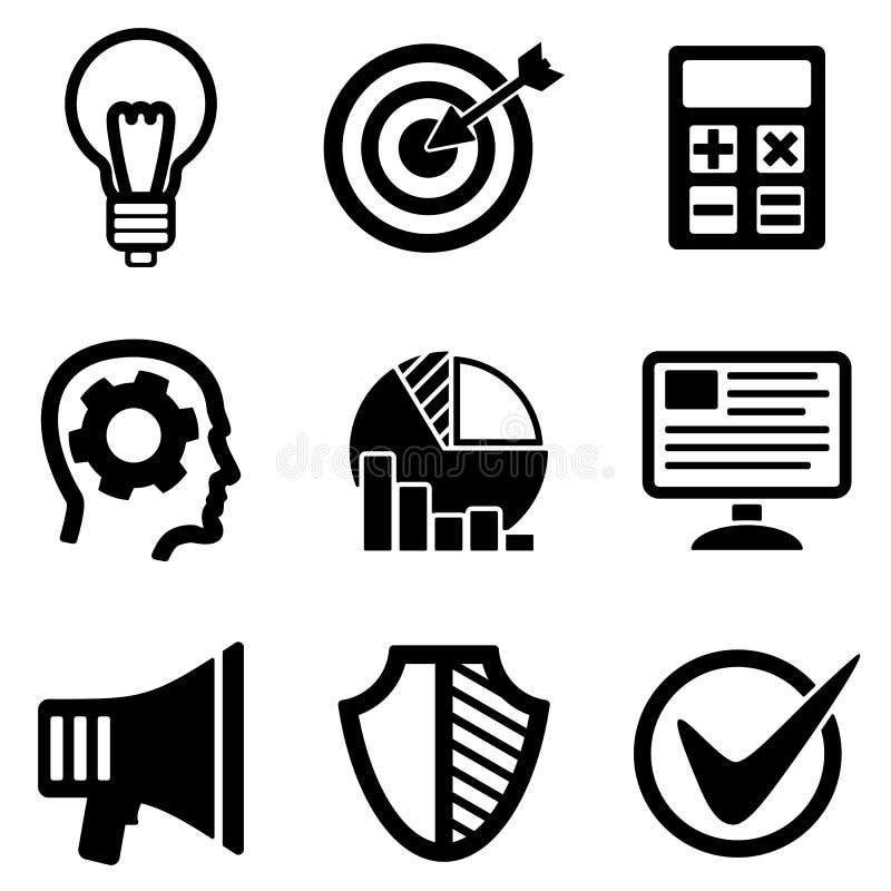 发展网和流动商标象收藏 库存例证