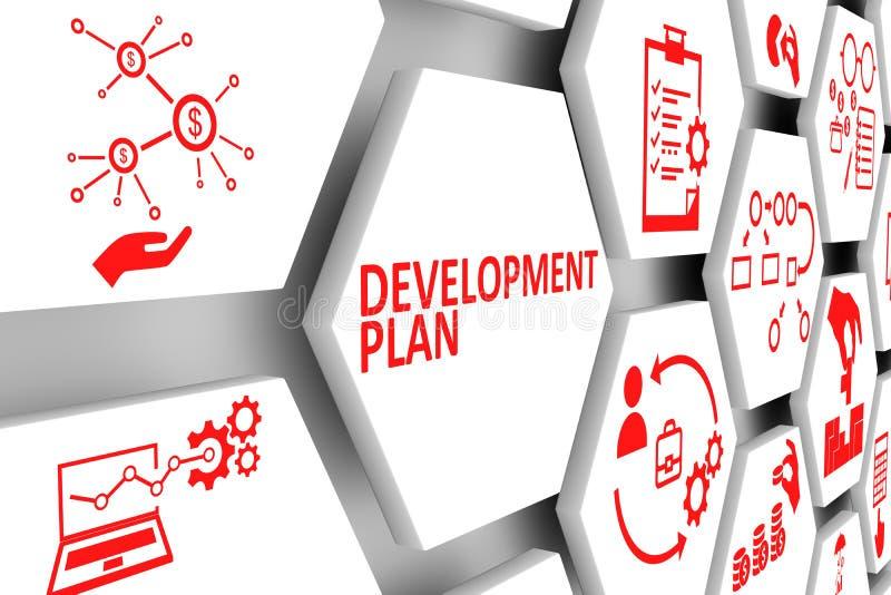 发展计划概念细胞背景 向量例证