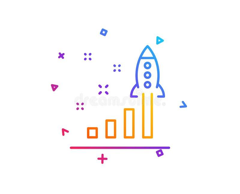 发展计划线象 发射起始的企业标志 向量 向量例证