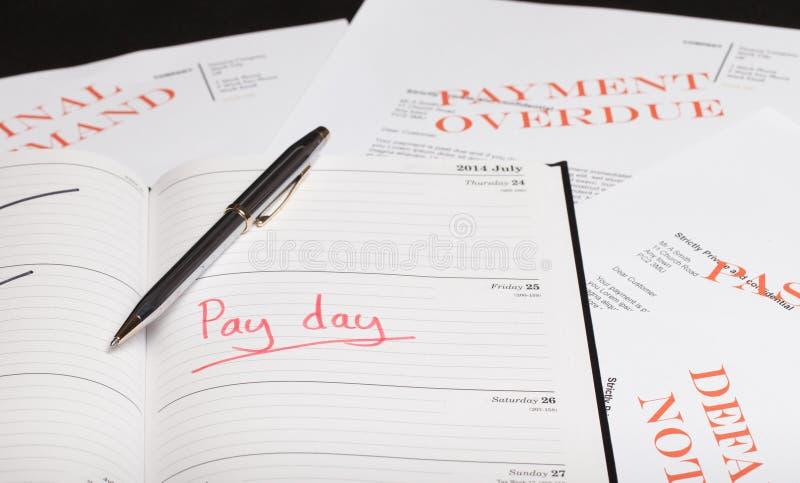 发工资日贷款 免版税库存照片