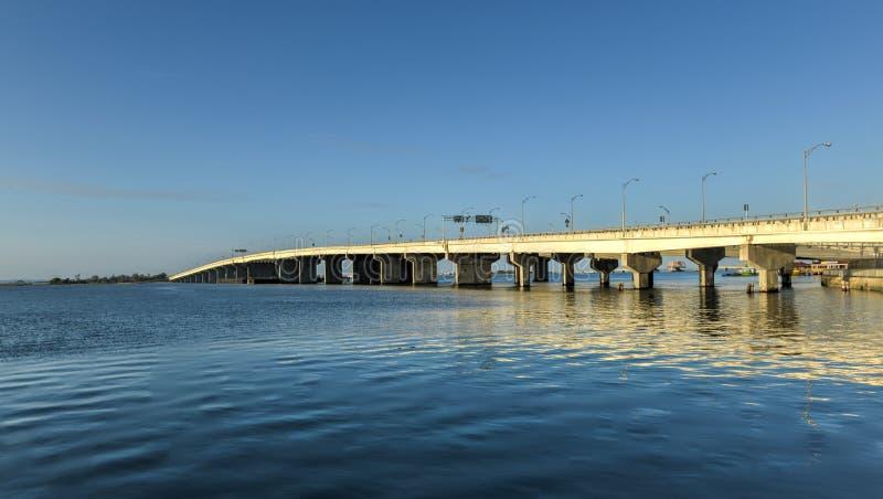 发怒海湾退伍军人纪念品桥梁 免版税库存图片