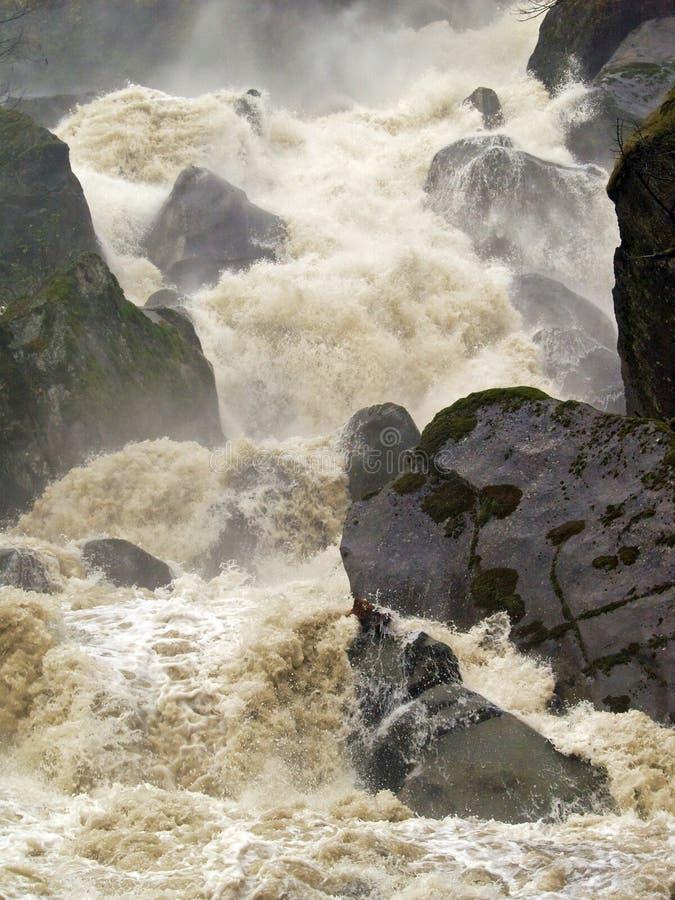 发怒的洪流 免版税库存图片