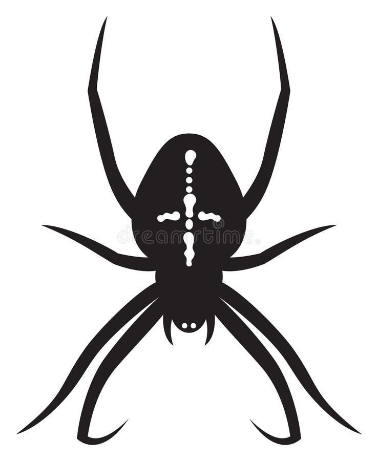 发怒蜘蛛 向量例证