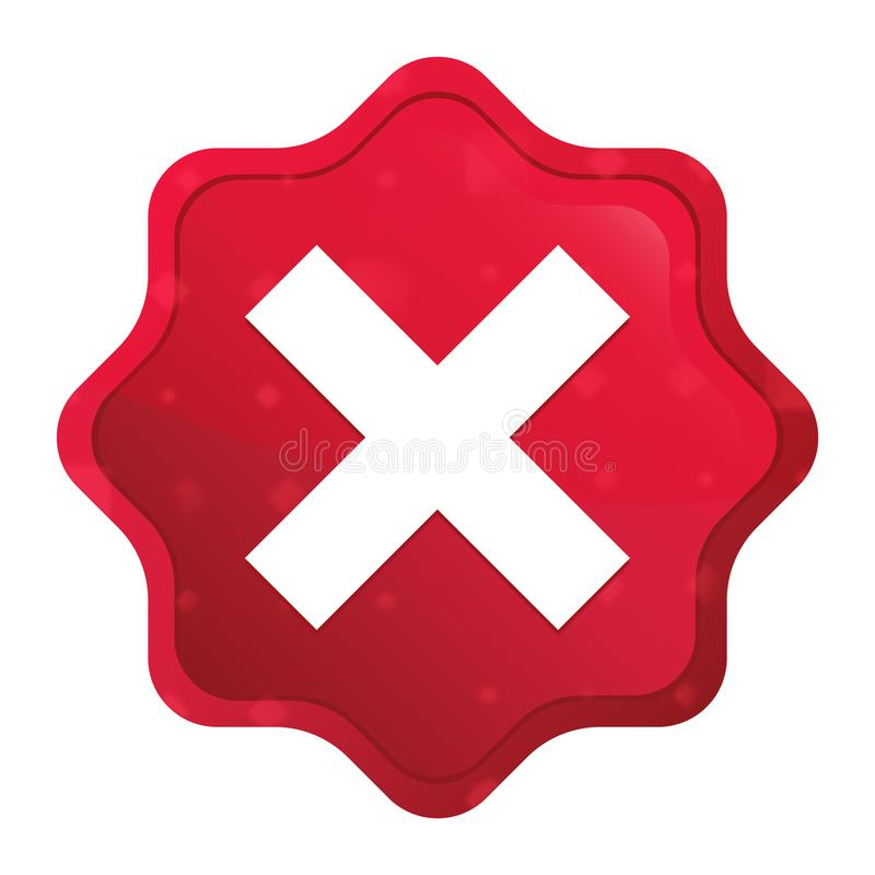 发怒象有薄雾的玫瑰红的starburst贴纸按钮 库存例证