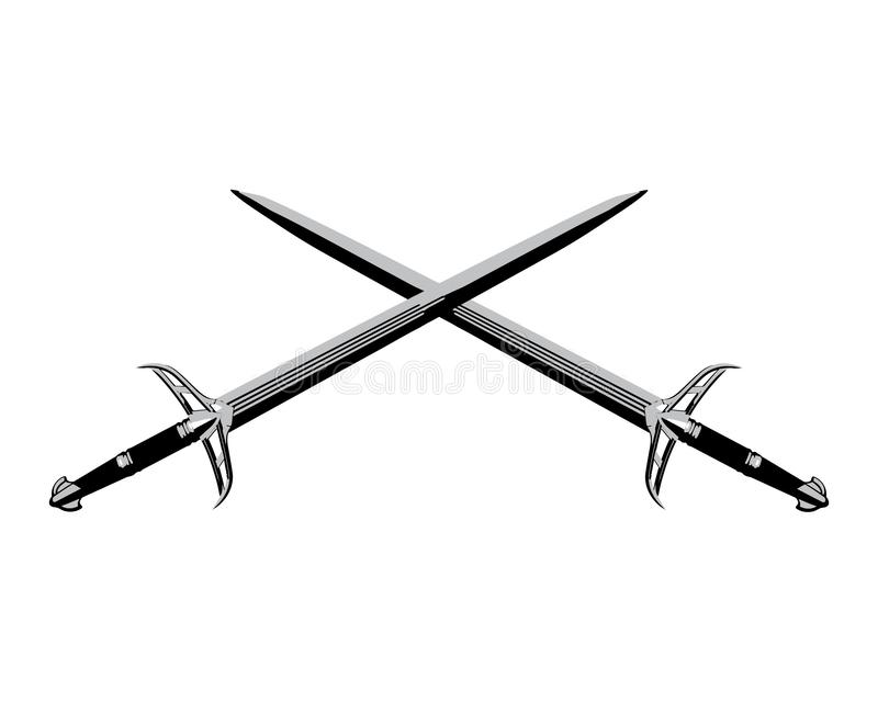 发怒骑士剑 皇族释放例证