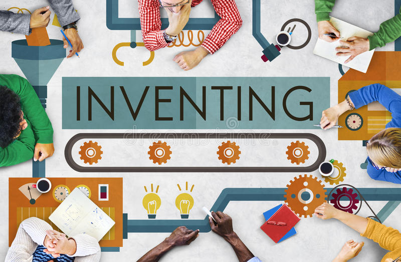 发明创新创造创造性的处理概念 库存照片