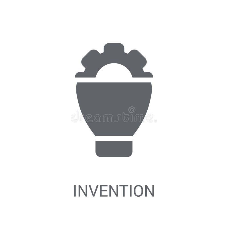 发明象 在白色backgroun的时髦发明商标概念 皇族释放例证