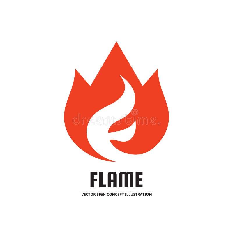 发火焰与抽象信件F -导航企业商标模板概念例证 火烧伤创造性的标志 热的温暖的标志象 向量例证