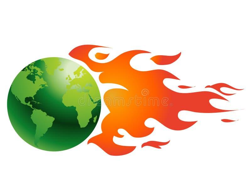 发火焰地球 皇族释放例证