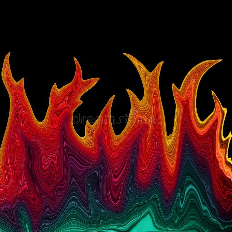 发火焰彩虹 向量例证