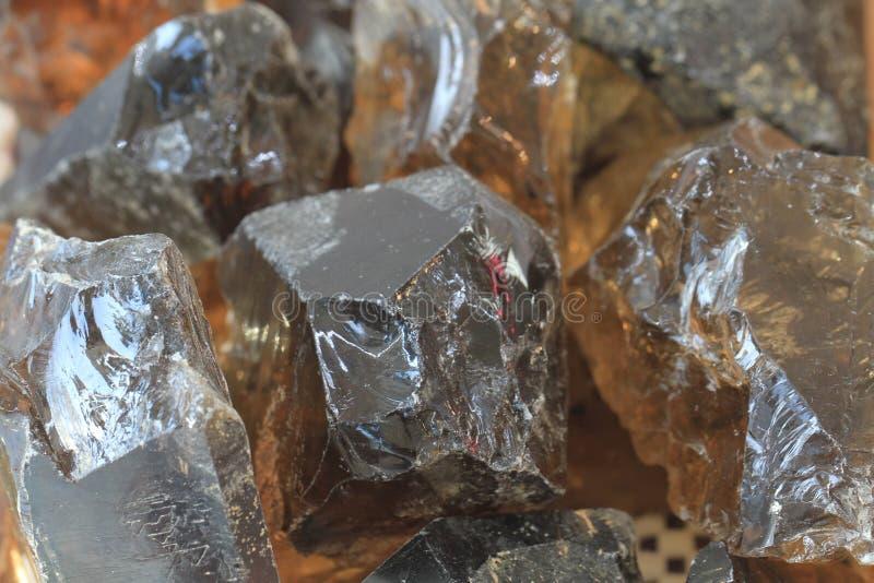 发烟性宝石的石英 免版税库存图片