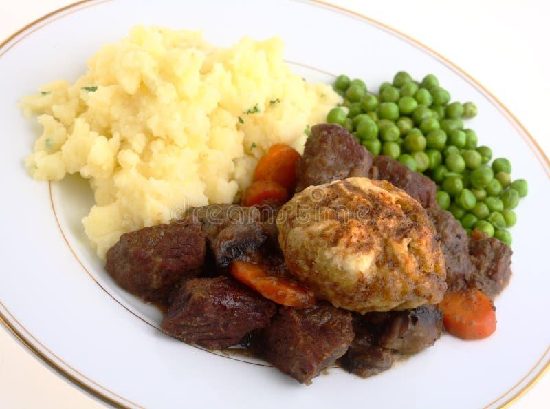 发牢骚英国膳食炖煮的食物 免版税库存图片