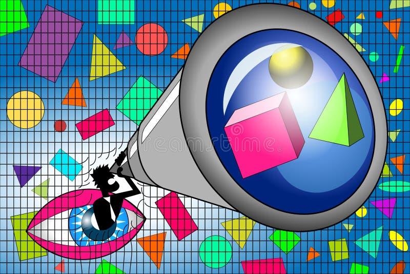 发现企业在极限之外的创新视觉 库存例证