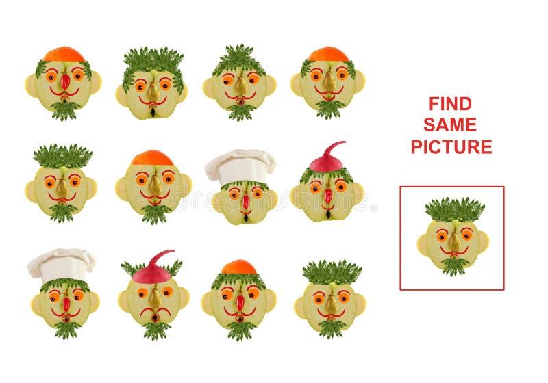 发现同一张图片的动画片例证 培训 向量例证