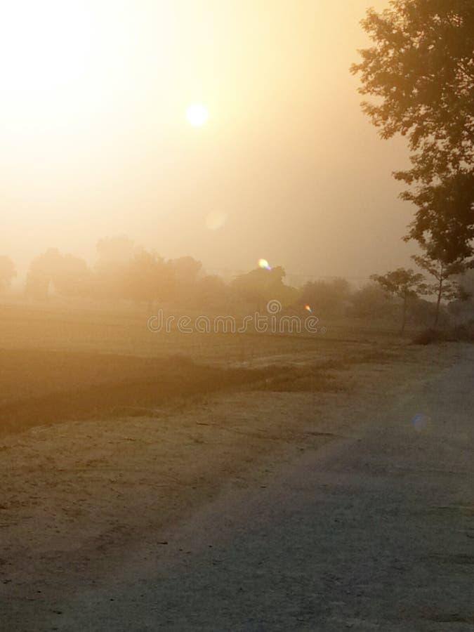 发现完善的日出和日落斑点 免版税库存照片