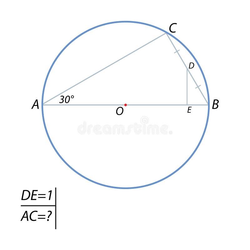 发现弦AC长度 库存例证
