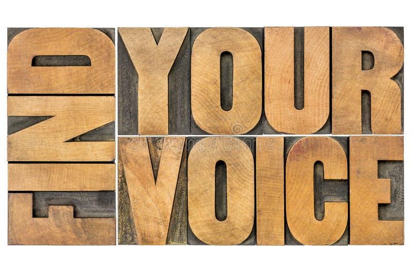发现您的声音创造性概念 免版税库存照片