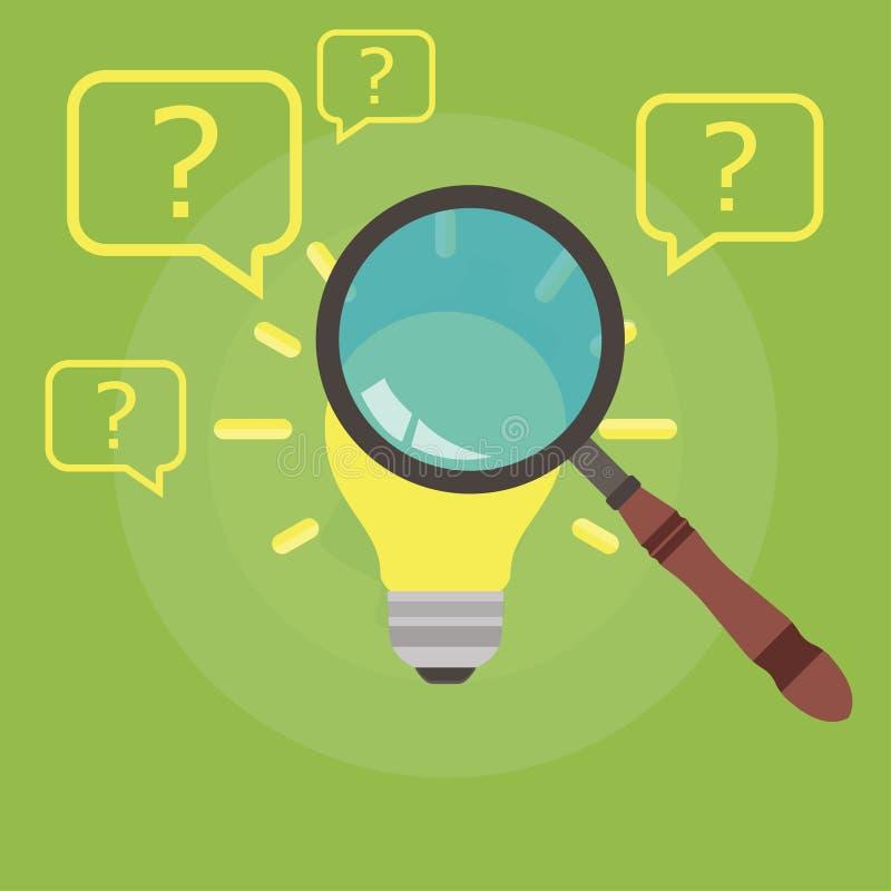 发现正确的想法动画片管理补充训练谜语 精选的雇主采访促进理想 专业聘用的年龄 库存例证