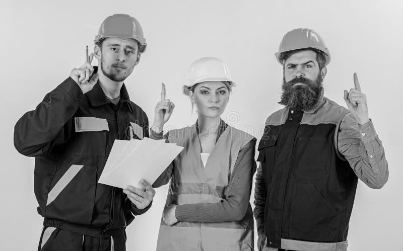 发现的建造者和工程师如何解决问题 免版税库存图片