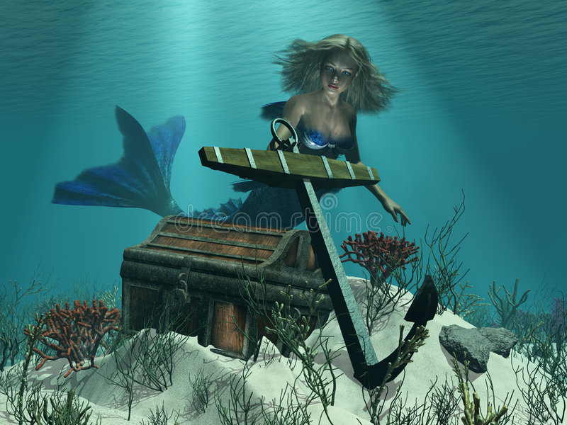 发现美人鱼s 向量例证