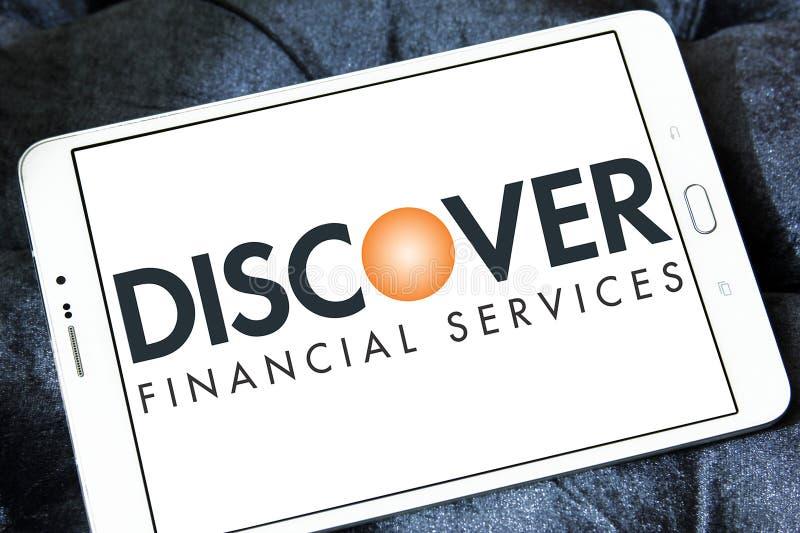 发现金融服务商标 免版税库存图片