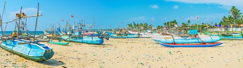 发现Kumarakanda渔场港口 图库摄影