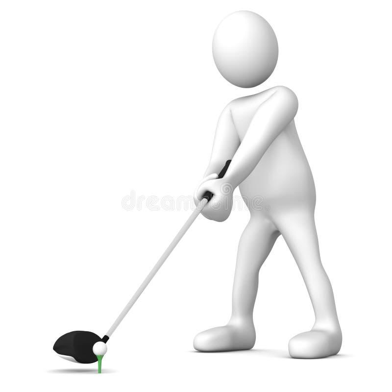 发球区域的高尔夫球运动员 向量例证