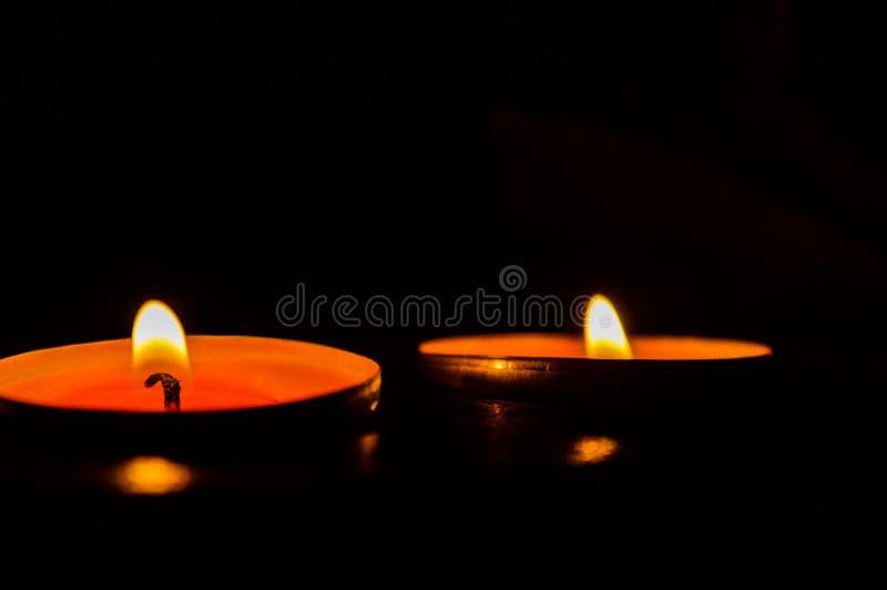 发球区域蜡烛 库存图片